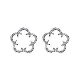 Kikyo Crest pierced earrings K18WG