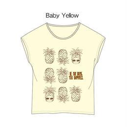 ドルマンカットソー イエロー / Cap-Sleeve T-Shirt Yellow