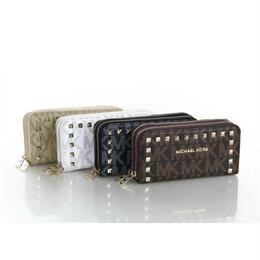 マイケルコース 人気 多色選択 リベット ベージュ 長財布 上質 男女兼用WPM837