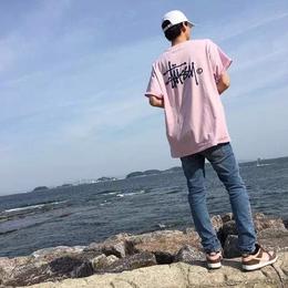 送料無料!ステューシー 男女兼用 ピンク ミニワンピース 2色 tシャツ 長tシャツ ウィメンズファッション メンズファッション 夏