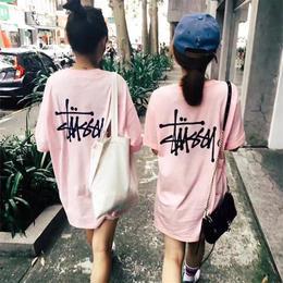 ステューシー 新入荷 長tシャツ ピンク ホワイト 2色選択 男女兼用 激安 人気新品