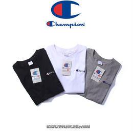 チャンピオン Tシャツ 男女兼用 夏用  刺繍 3色 運動適用