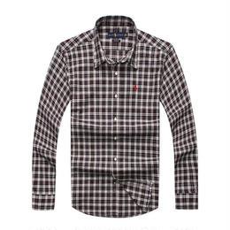 ポロラルフローレン メンズ愛用 長袖 チェック柄 シャツ ワイシャツ 人気 3色