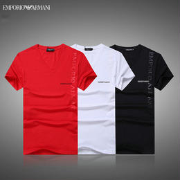 エンポリオ アルマーニ 人気 半袖Tシャツ 男女兼用 メンズ愛用 メンズファッション 夏 3色