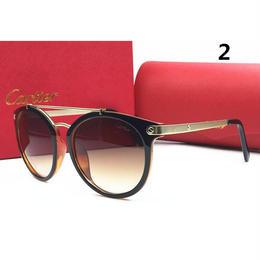カルティエ サングラス☆メガネ 6色 セレブ感 夏用 茶色系 多色選択 大人ぽっく1033