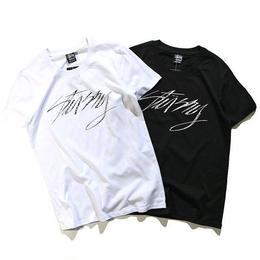 激安 ステューシー Tシャツ 男女兼用 2色 ブラック 夏用 人気新品 激安