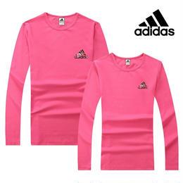 Adidas アディダス 激安 tシャツ 長袖 スウェット 人気新品 tシャツ 男女兼用 ウィメンズファッション 秋物T024