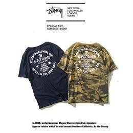 ステューシー tシャツ 激安 迷彩 2色選択 人気新品 男女兼用