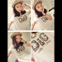 激安 D&G ウィメンズ 可愛い tシャツ 夏 2色 部屋着 人気