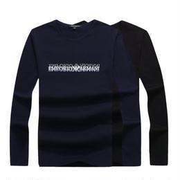 アルマーニ 激安! ARMANI 2色 Tシャツ 長袖 メンズファッション 人気新品 男女兼用
