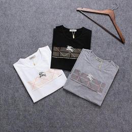 最新 バーバリー Tシャツ メンズファッション メンズ愛用 3色 着心地よい