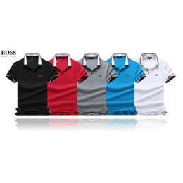 ヒューゴボス 上質 メンズ 男女兼用 人気 ポロシャツ 3色選択 運動適用 夏