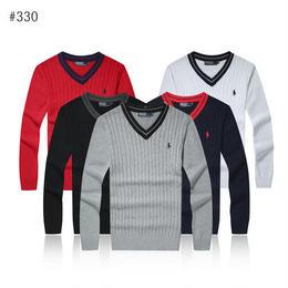 ポロラルフローレン 人気新品 刺繍 激安 秋冬物 ニット セーター 長袖 多色選択 男女兼用 防寒!