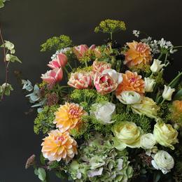フラワーアレンジメント ギフト arrangement spring  L size