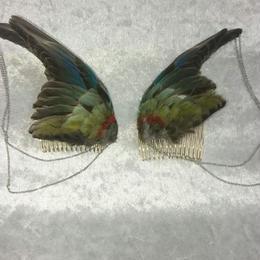 セイキインコの翼の髪飾り