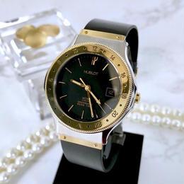 HUBLOT  ウブロ GMT コンビ  デイト クォーツ  メンズ レディース  腕時計