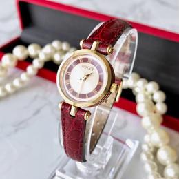 GUCCI グッチ  全純正  ベルト2色 ホワイト文字盤  クォーツ レディース 腕時計