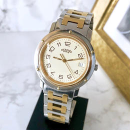 HERMES エルメス クリッパー コンビ  腕時計