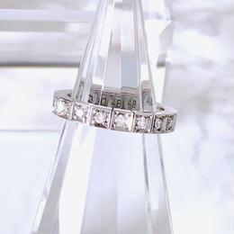Cartier カルティエ ラニエール K18WG ダイヤモンド 16P 8号 リング