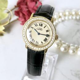 Cartier カルティエ マストロンド SM ベルト2色付 ダイヤモンド 腕時計