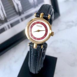 GUCCI グッチ  OH済 シェリーライン ベルト2色付 ゴールド  腕時計