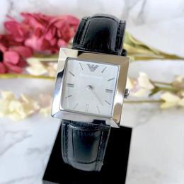 EMPORIO ARMANI エンポリオ・アルマーニ スクエア シルバー クォーツ   レディース 腕時計