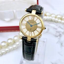 Cartier  希少 カルティエ ヴァンドーム ベルト2色付 ゴールド 腕時計