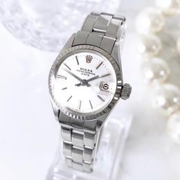 ROLEX ロレックス 6517 ベルト2種付 オイスター パーペチュアル K18WGベゼル 腕時計