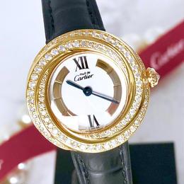 Cartier カルティエ トリニティ ベルト2色付 ダイヤモンド 94P 腕時計