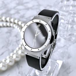 HUBLOT ウブロ クラシック MDM デイト ラバーベルト クォーツ レディース メンズ 腕時計
