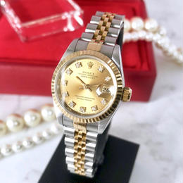 ROLEX ロレックス K18YG ベゼル オイスター ダイヤ 10P 自動巻 腕時計