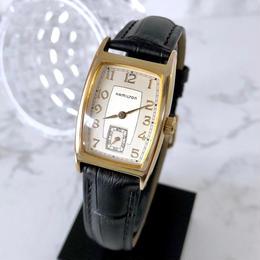 HAMILTON ハミルトン スモセコ ベルト2色付 スクエア ゴールド 腕時計