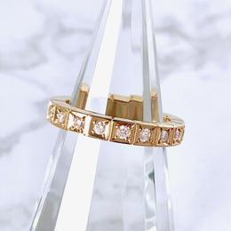 Cartier カルティエ ラニエール K18YG ダイヤモンド 16P 7号 リング