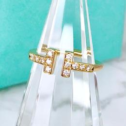 Tiffany ティファニー Tワイヤーリング ダイヤモンド 12P 7号 リング