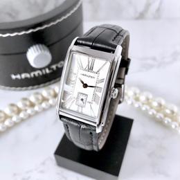 HAMILTON ハミルトン ベルト2色付 電池新品 アードモア スモセコ クォーツ 腕時計