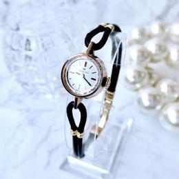 HAMILTON ハミルトン カットガラス  K18YGGP 手巻き レディース 腕時計