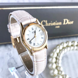 Christian Dior ディオール ベルト2色付き ローマンインデックス クォーツ 腕時計