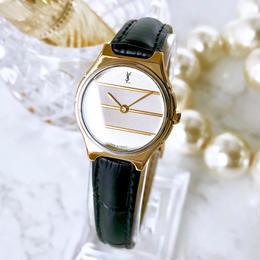 YSL イヴサンローラン OH済 ベルト2色付 コンビ  腕時計