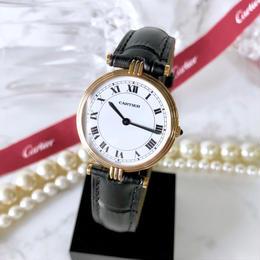 Cartier カルティエ ヴァンドーム OH済 K18金無垢 ベルト2色付 レディース 腕時計