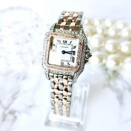Cartier カルティエ パンテール SM 天然ダイヤモンド95P  コンビ クォーツ レディース 腕時計