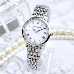 Tiffany ティファニー クラシック ベルト2種付き シルバー 腕時計