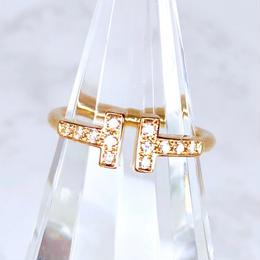 Tiffany ティファニー Tワイヤー リング ダイヤモンド 12P 6号 リング