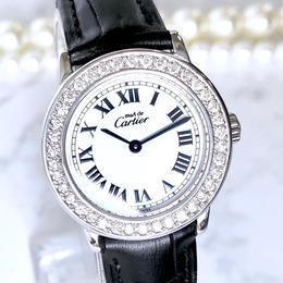 Cartier カルティエ OH済 マストロンド ベルト2色付 ダイヤモンド 腕時計