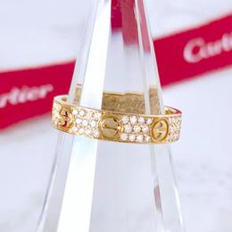 Cartier カルティエ ミニラブリング K18YG フルパヴェダイヤ 88P 指輪