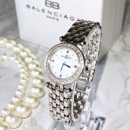 BALENCIAGA バレンシアガ OH済み ドレスウォッチ ブレス クォーツ レディース 腕時計