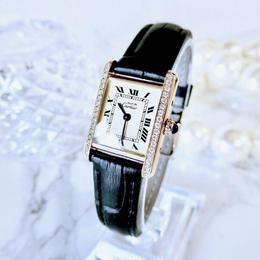 Cartier カルティエ  マスト タンク 天然ダイヤモンド ベルト2種付 クォーツ レディース 腕時計