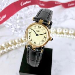 Cartier カルティエ ヴァンドーム  OH済 クォーツ レディース 腕時計