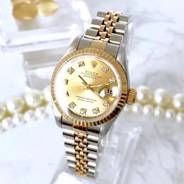 ROLEX ロレックス オイスター パーペチュアル デイトジャスト ダイヤ 腕時計