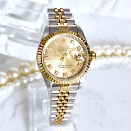 ROLEX ロレックス オイスター パーペチュアル デイトジャスト ダイヤモンド レディース 腕時計