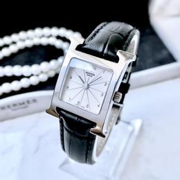 HERMES エルメス Hウォッチ シルバー クォーツ レディース 腕時計